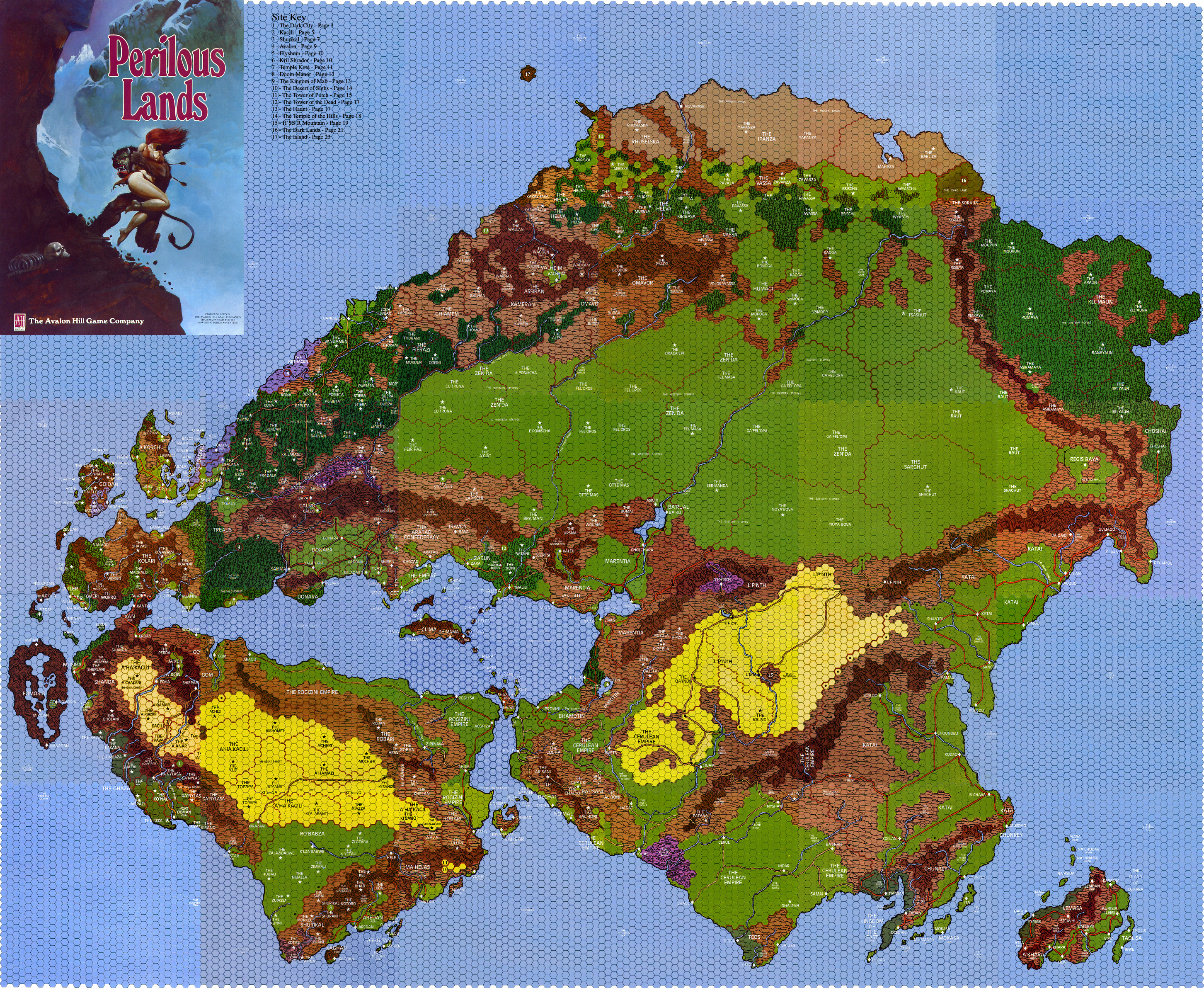 Powers And Perils Perilous Lands World Map - All world map